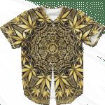 Golden Marijuana Mandala Awesome Geometry Stylish Baseball Jersey