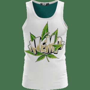 Hemp Graffiti Style Font All White 420 Weed Dope Tank Top