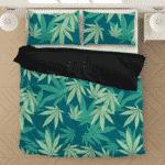 Hemp Leaves Marijuana Ganja Kush Elegant Bedding Set