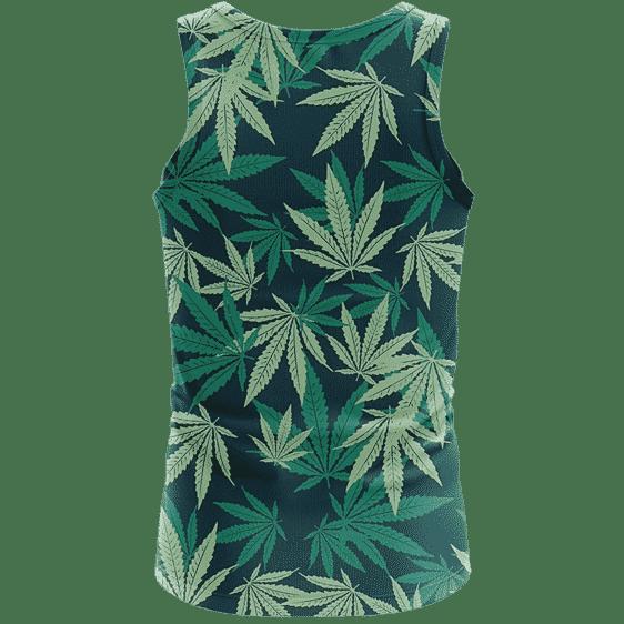 Hemp Leaves Marijuana Ganja Weed Kush Elegant Tank Top - back