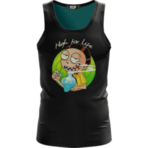 High for Life Adventures of Morty 420 Marijuana Awesome Tank Top