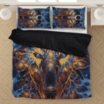 Intangible Wolf Beautiful Neon Colors Awesome Bedding Set