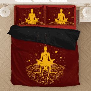 Kundalini Enlightened Calm And Powerful Red Bedding Set