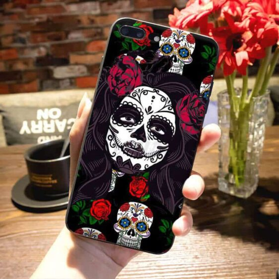 Lady & Sugar Skull Day of the Dead Dope iPhone 12 Case