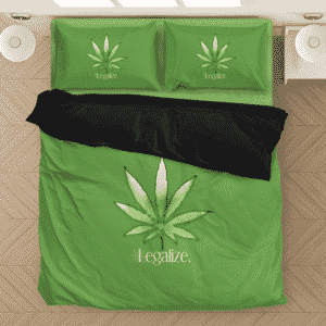 Legalize Marijuana 420 Minimalist Green Fantastic Bedding Set