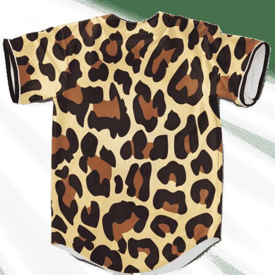 Leopard Print Marijuana Minimalist Logo Awesome Baseball Jersey