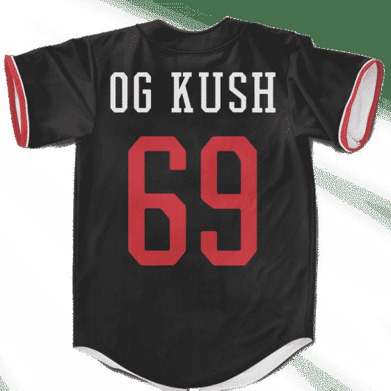 MLB Dodgers Marijuana OG Kush 69 Black Edition Baseball Jersey