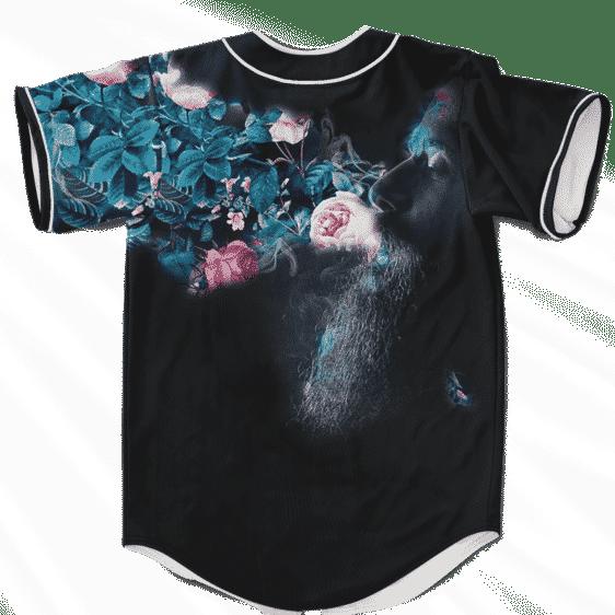 Man Smokes Weed Turns Floral Pattern 420 Kush Baseball Jersey