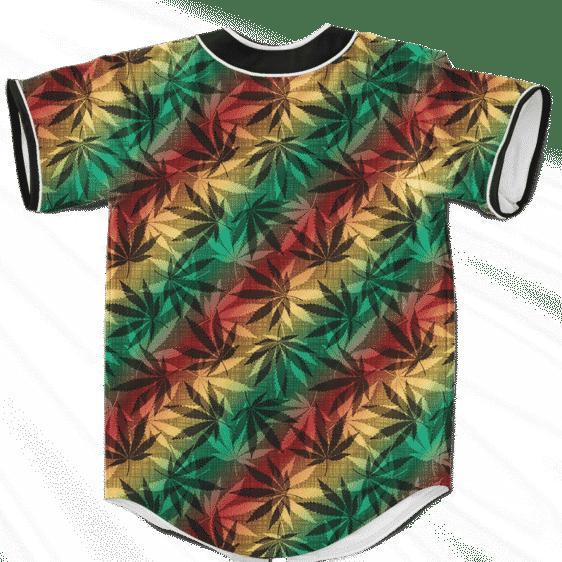 Marijuana 420 Weed Reggae Colors Amazing Baseball Jersey