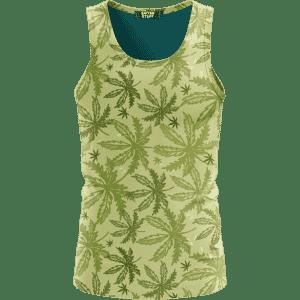 Marijuana Breezy Seamless Pattern Hemp Awesome Tank Top