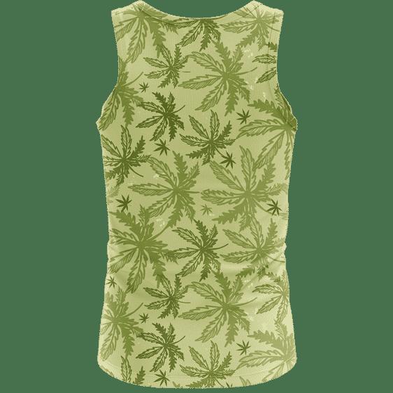 Marijuana Breezy Seamless Pattern Hemp Awesome Tank Top - back