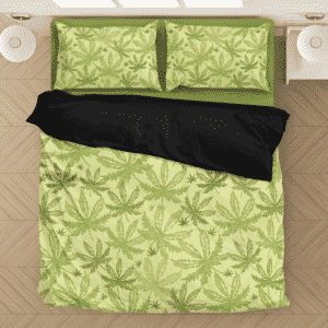 Marijuana Breezy Seamless Pattern Hemp Fantastic Bedding Set