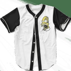 Marijuana Enthusiast Stoned Homer Simpson Awesome Baseball Jersey