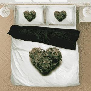 Marijuana Heart Shaped Cute And Lovely Bedding Set