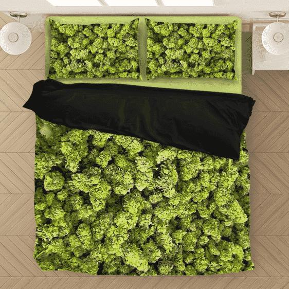 Marijuana Kush Nugs All Over Print Awesome Dope Bedding Set