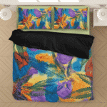 Marijuana Leaf Water Coloured Inspired Majestic Bedding Set