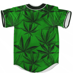 Marijuana Leaves Dope Dark Green Minimalist Baseball Jersey