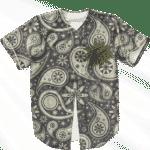 Marijuana Vector Logo Paisley Fabric Dark Awesome Baseball Jersey