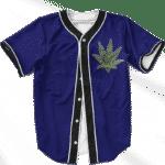Marijuana Weed 420 Navy Blue Minimalist Awesome Baseball Jersey