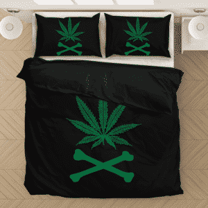 Marijuana Weed 420 Flag Inspired Black Excellent Bedding Set