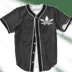 Marijuana Weed Adidas Addicted Logo Black Baseball Jersey