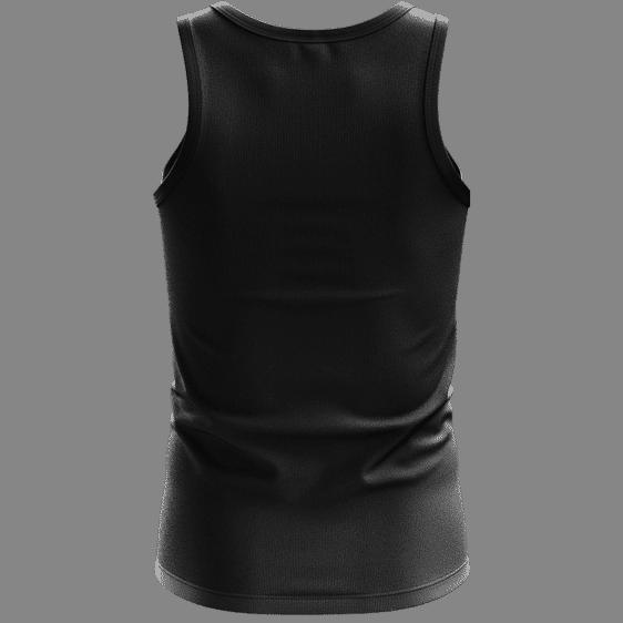 Marijuana Weed Adidas Addicted Logo Black Minimalist Tank Top - Back