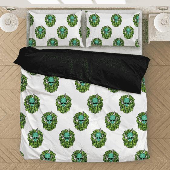 Marijuana Weed Kush Stoner Alien Fabulous Bedding Set