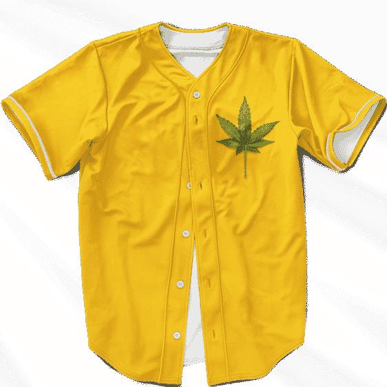 Minimalist Real Marijuana Leaf Awesome 420 Baseball Jersey