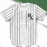 NY Yankees Pin Stripe RX Medical Cannabis 420 Baseball Jersey