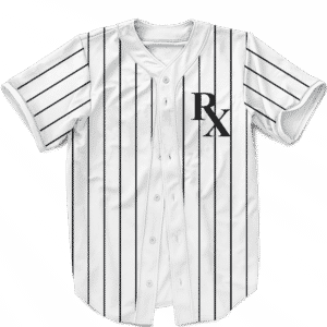NY Yankees Pin Stripe RX Medical Cannabis 420 Baseball Jersey