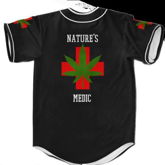 Nature's Medic Paramedic Parody 420 Marijuana Baseball Jersey