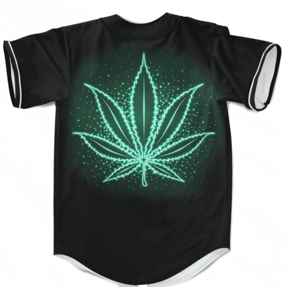 Neon Marijuana Leaf 420 Weed Hemp Kush Dope Baseball Jersey