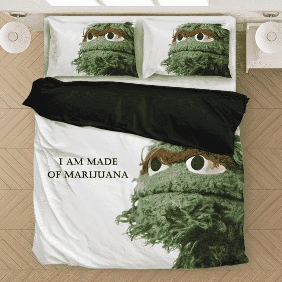 Oscar The Grouch Made Of Marijuana Adorable Bedding Set