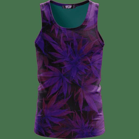 Purple Haze Trippy Marijuana Hemp 420 Awesome Tank Top