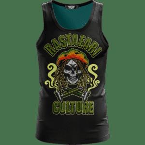 Rastafari Culture Reggae Skull Smoking Pipe 420 Ganja Cool Tank Top