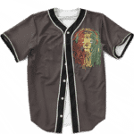 Rastafarian Lion Reggae Dreadlocks 420 Ganja Baseball Jersey