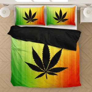 Reggae Colors Marijuana For The Stoners 420 Dope Bedding Set