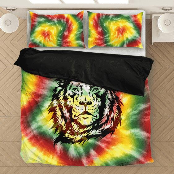 Reggae Inspired Tie Dye For The Stoners Dope Bedding Set