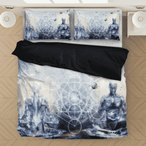 Sacred Geometry Spiritual Yoga Pose Great Bedding Set