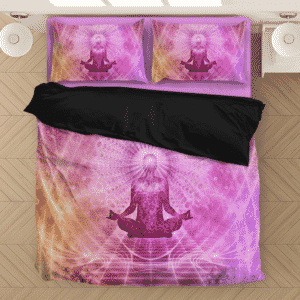 Sacred Meditation One With The Mind Pink Cool Bedding Set