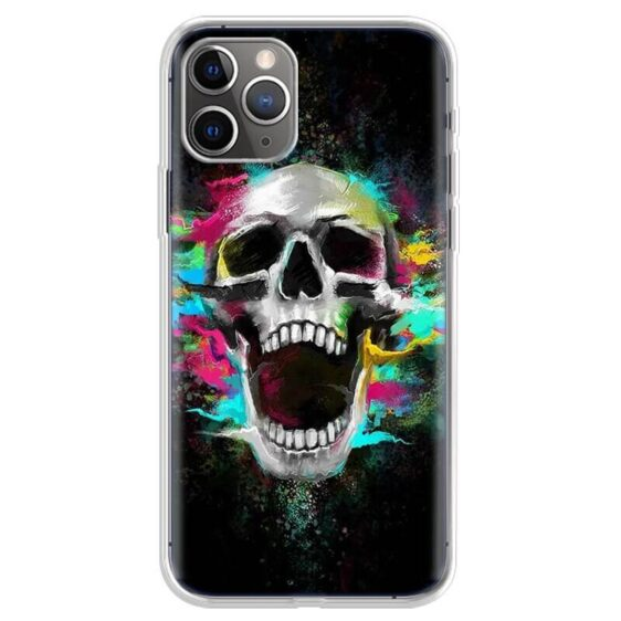 Screaming Skull Color Splash Painting Cool iPhone 12 Case