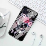 Skull & Red Rose Flowers Cool iPhone 12 (Mini, Pro & Pro Max) Case