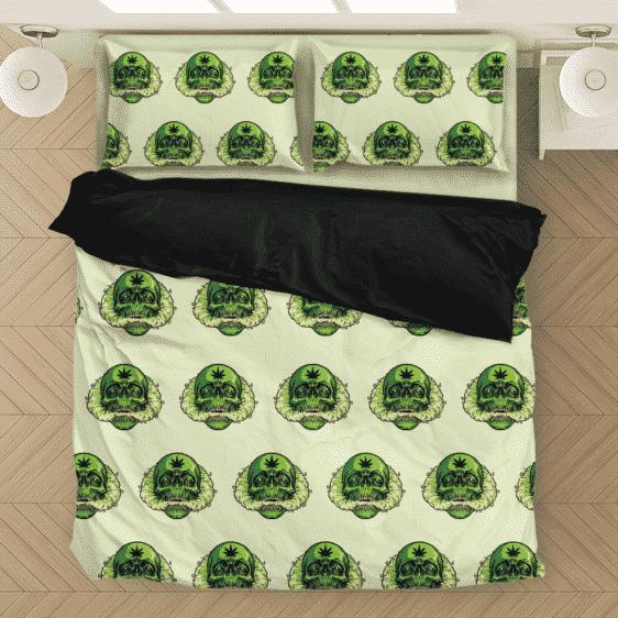 Smoking Weed Skull Marijuana Doobie Kush Cool Bedding Set