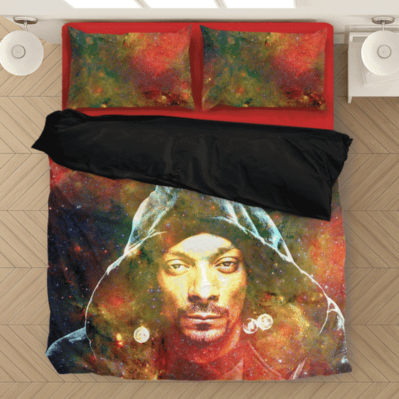 Snoop Dogg Trippy Galactic Stoned Marijuana 420 Cool Bedding Set