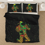 Space Man Astronaut Galaxy Smoking Bong Spaced Out Bedding Set
