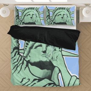 Statue Of Liberty Smoking That Good Good Awesome Bedding Set