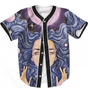 Stoned Spaced Out Girl 420 Weed Pop Art Culture Baseball Jersey