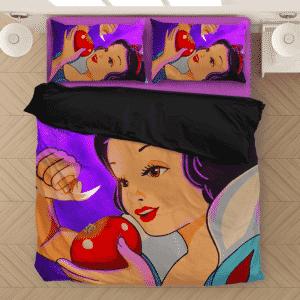Stoner Snow White Apple Pipe Marijuana Dope Bedding Set