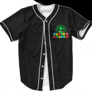 Super Stoned Mushroom Weed Marijuana Mario Baseball Jersey