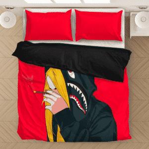 Supreme Billie Eilish Smoking a Joint 420 Marijuana Bedding Set